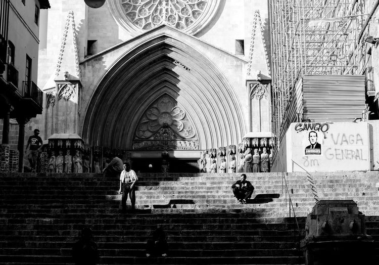 Blackandwhite Black And White Black&white Black & White Black And White Photography Architecture People Society Streetphotography Cathedral Shadows Light