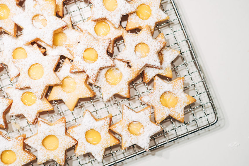 We're baking Christmas Cookies Bakery Baking Close-up Day Directly Above Food Food And Drink Freshness High Angle View Indoors  Large Group Of Objects Lemon Curd No People Ready-to-eat Sweet Food White Background