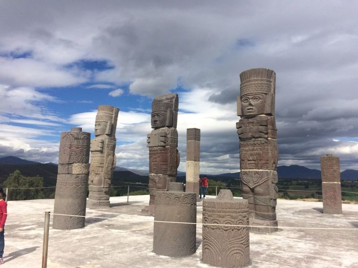 Architecture Cloud Cloud - Sky Column Famous Place History Monument Outdoors Sky Tourism Travel Travel Destinations Tula, Mexico