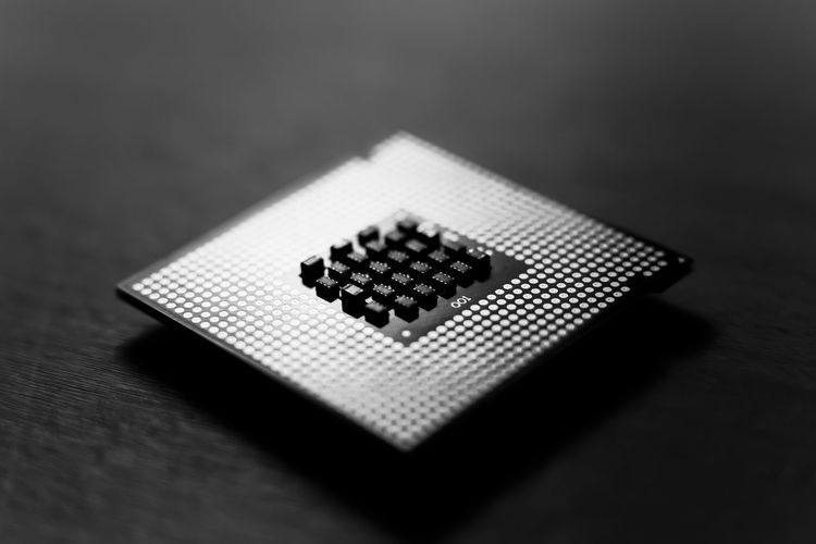 Processor Prozessor Tech Blackandwhite Chip Close-up Computer Computer Chip Computing Hardware Pc Parts Selective Focus Single Object Technology