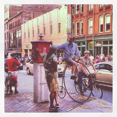 Just another day in Portland Maine Oldport Congressstreet Oldbicycle City Street