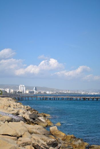 Limassol Cyprus Limassol Cityscape City EyeEm Selects Water Sky Sea Beach Cloud - Sky Land Sand Outdoors Idyllic Architecture Tranquility No People Built Structure Day Tranquil Scene Nature Scenics - Nature Beauty In Nature Blue