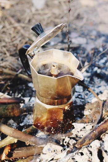 EyeEmNewHere Cafe Cafe Time Coffee Picnic Fire Drink Refreshment Drinking Glass Cold Temperature No People Ice Food And Drink Close-up Alcohol Outdoors Freshness Day Hot From My Point Of View Food And Drink EyeEm Gallery Moka Pot Hot Cafe Exploring Style