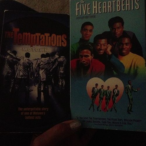 So I'm at work and my lady hands me these two VHS. ? Yes I said VHS. Here's my question. Who's your favorite group?? Temptations Fiveheartbeats VHS Youngkidsdontknowaboutit 80sbaby