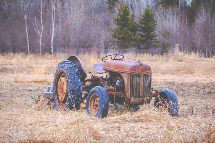 Abandoned tractor in canada