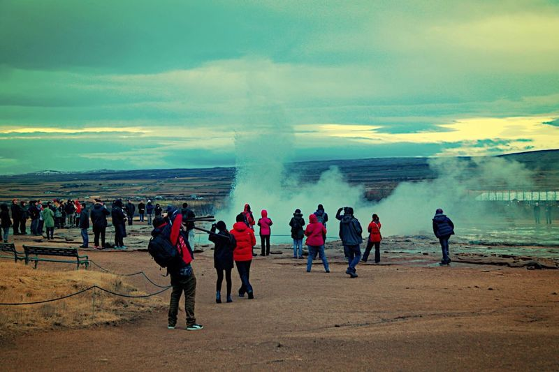 The EyeEm Facebook Cover Challenge Micky In Iceland Strokkur Geysir My Best Photo 2014