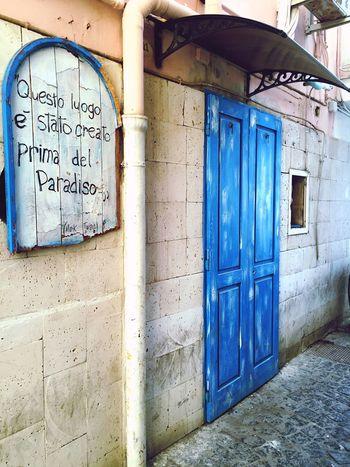Napoli Naples Pozzuoli Street Blue Door Marktwain