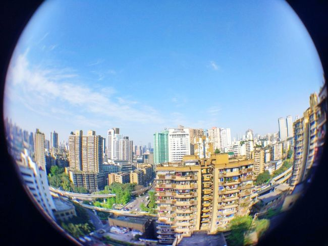 City Skyscraper Cityscape Architecture Urban Skyline Development City Life Downtown District Business Finance And Industry Modern Outdoors Day No People Fish-eye Lens