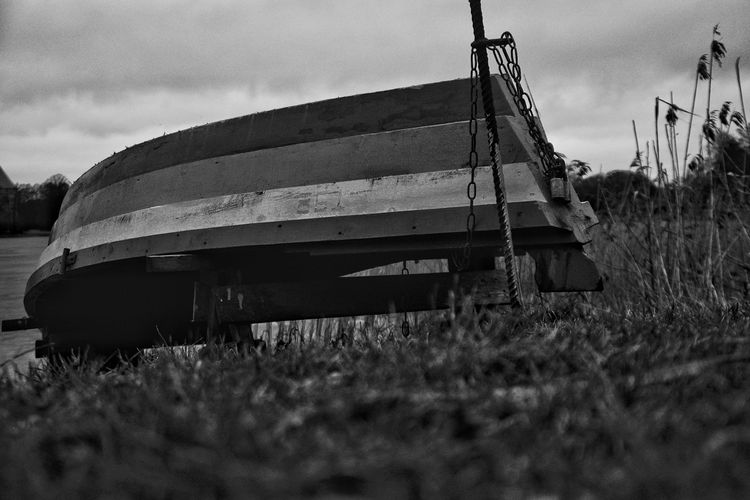 Showcase March Blackandwhitephotography Boat Grass Lake Panoramic View Nikonphotography Lithuania Nature Dslrphotography Nikond3300 Calmness