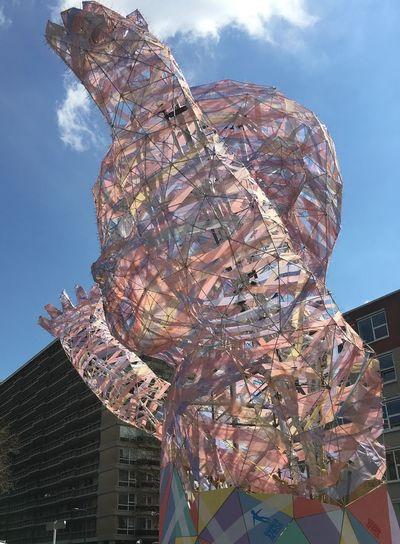 Sculpture Street Art Giant Baby Culture Urban Art Coloured Ribbons