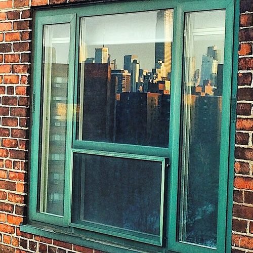 Window Reflection - NYC Bricks Buildings Exterior Light Light And Shadow No People Reflection Window