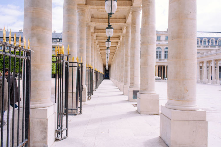 Le Palais Royal Architectural Column Architecture Architecture Built Structure France History Light Palais Royal Pattern Spring Travel Travel Destinations