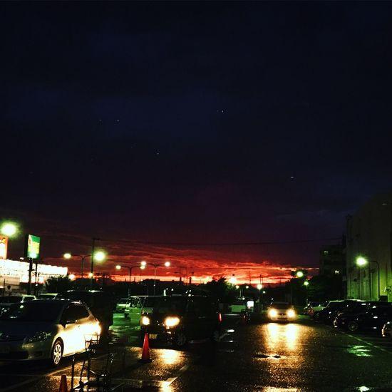 夕景 夕焼け Sunset Nature After The Rain Car Sky