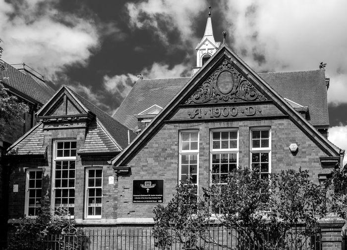 Freeman's Endowed (C of E) Junior School, Westfield Road, Wellingborough, Northamptonshire Architecture School Fujifilmxt1 Northamptonshire Wellingborough FUJIFILM X-T10 Black And White Monochrome