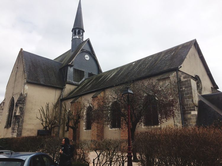 Hi! Check This Out That's Me Enjoying Life Hanging Out Taking Photos of a church in a town called Salbris, in France