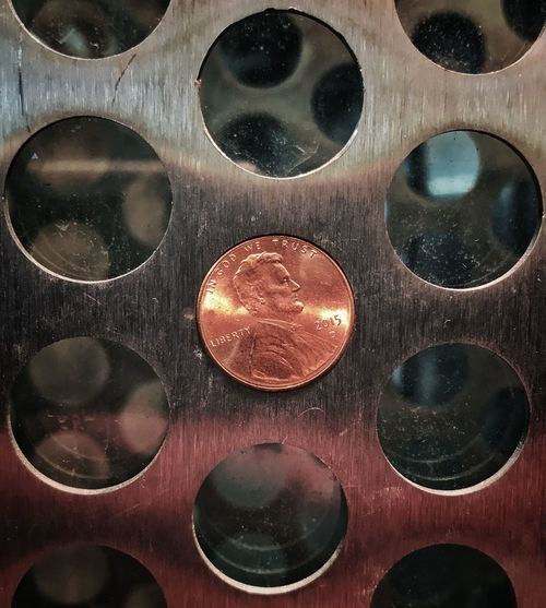 Scenes from the l Money Coin Penny Circle Close-up Backgrounds No People Day