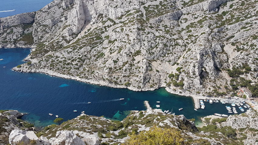 Paradise Morgiou Calanques Near Marseille Bateau Beauty In Nature Calanques  Calanques De Marseille Calcaire Cliff Day Morgiou Mountain Nature No People Outdoors Physical Geography Port Pêcheur Rock Formation Scenics Sea Sky Tranquility Water