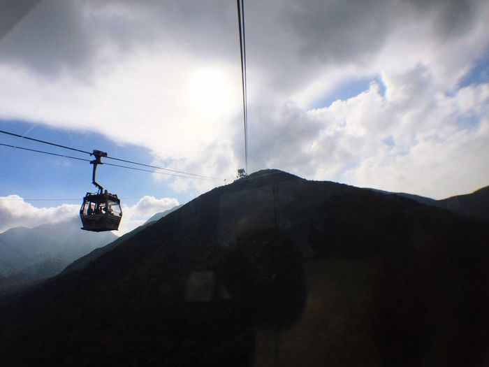 Sky Cloud - Sky Overhead Cable Car Hanging Low Angle View Outdoors Ski Lift Cable Day Nature No People Above Welcome To Black