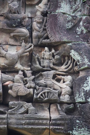 Angkor Thom Ankor Thom Cambodia Travel Architecture Day History Old Building  Outdoors Sculpture Statue