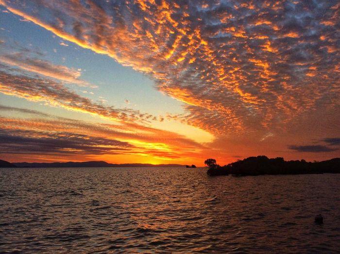Sunset Sky Water Scenics - Nature Beauty In Nature Cloud - Sky Orange Color