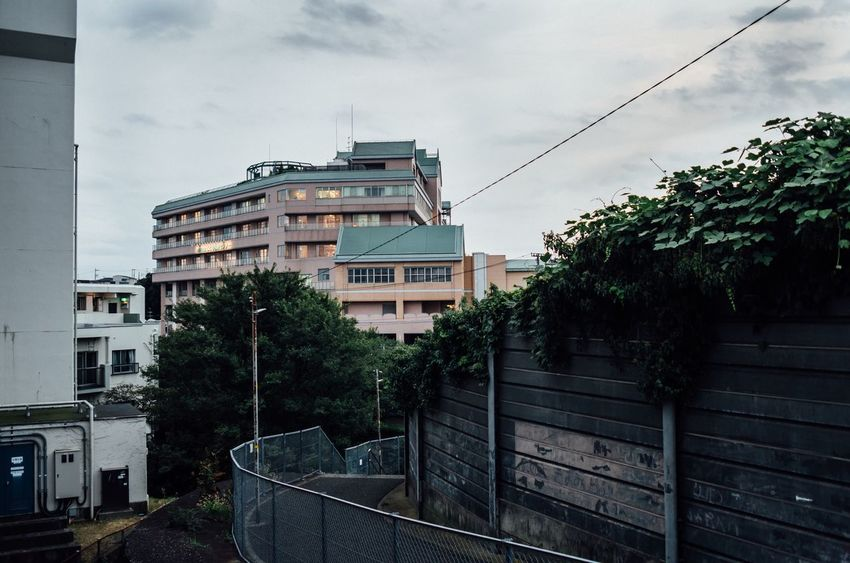 Afternoon Light Holiday Walking Around Narrow Path My Hometown Built Structure Fence Highway Cable Clouds And Sky No People Greens Alone Time Time Is Running Out Residential Building Cloud - Sky Cloudy Sky Town Yokohama Yokohama, Japan October October 2017