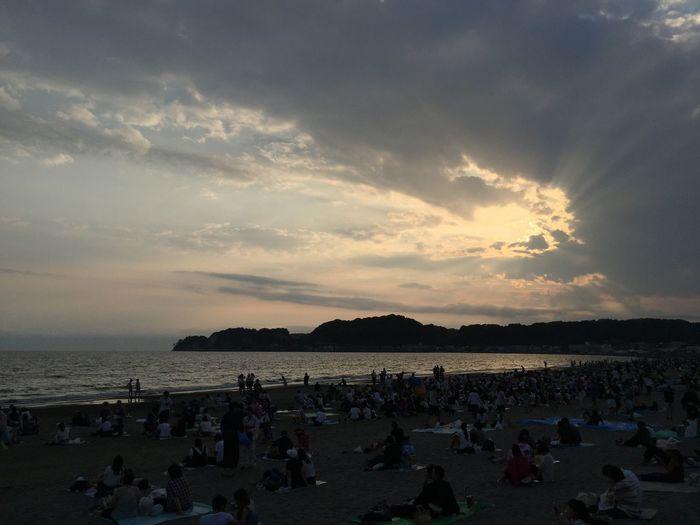 花火の前 Kamakura Japan Beach Sunset