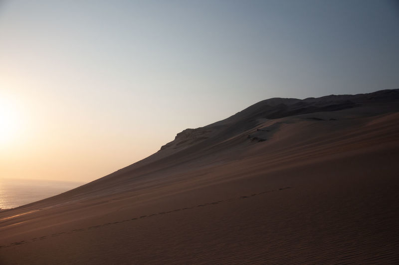 Camping days Sand Dunes Sand Dune Clear Sky Desert Paradise Sky Beauty In Nature Nature Remote Nikon Photooftheday Outdoors Tranquility Sunset