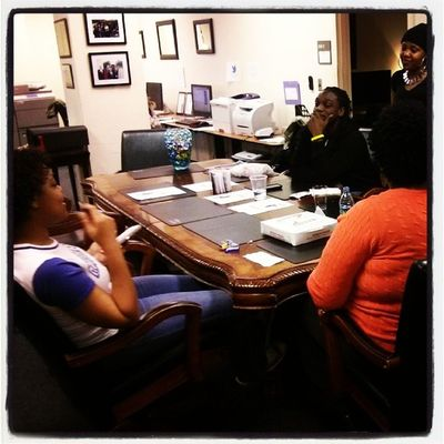PowerofStudents talking about tonight's events with @killermikegto @styleandscholarship ....7p Dahlberg Hall...