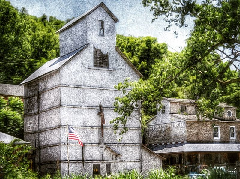 WESTON ELEVATOR ~ Weston, Missouri USA ~ Landscape Dreamscapes Kansas City Theappwhisperer Dreamscapes & Memories Roadside America Kcac Artist Life Is A Mirror And Will Reflect Back To The Thinker What He Thinks Into It -Ernest Holmes Walker Evans DreamScapes FoToEdge It Was Only A Dream Roadside Relic From The Past Time Survivor Beautiful Day In The Neighborhood... Old House On The Road Inspired By Edward Hopper Missouri SIGNS.