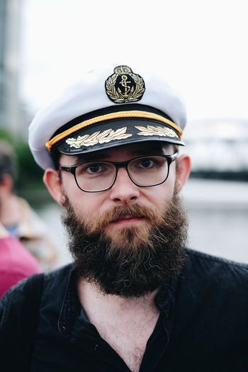 Capitan Beard Cap Clothing Facial Hair Glasses Headshot Leisure Activity Lifestyles Men One Person Outdoors Portrait Real People