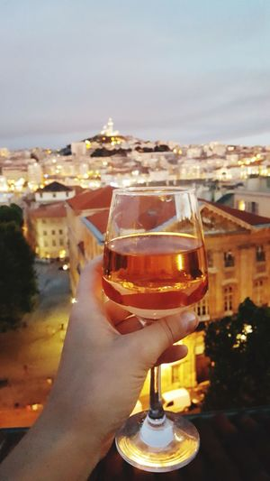 Alcohol Drink Drinking Glass Food And Drink Refreshment City Outdoors Wineglass Night Sky Wine Close-up Cityscape Focus On The Foreground Dusky Sky Wine Glass Rosé Rose Wine Marseille Wine Not Rooftop View  France Raise A Toast Celebration Paint The Town Yellow The Traveler - 2018 EyeEm Awards