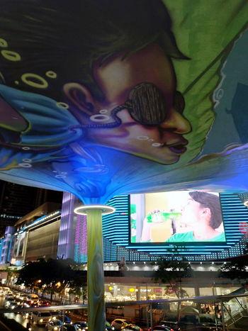 EyeEmNewHere Multi Colored Illuminated Architecture Night City Skyline Outdoors Thinkoutsidethebox Urban Traffic TV Tower AI Now