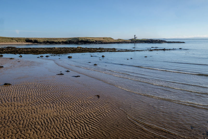 Beach ELIE Firth Of Forth Lighthouse Nature Outdoors Ripples Rocks Schottland Sea Shore Sky Water