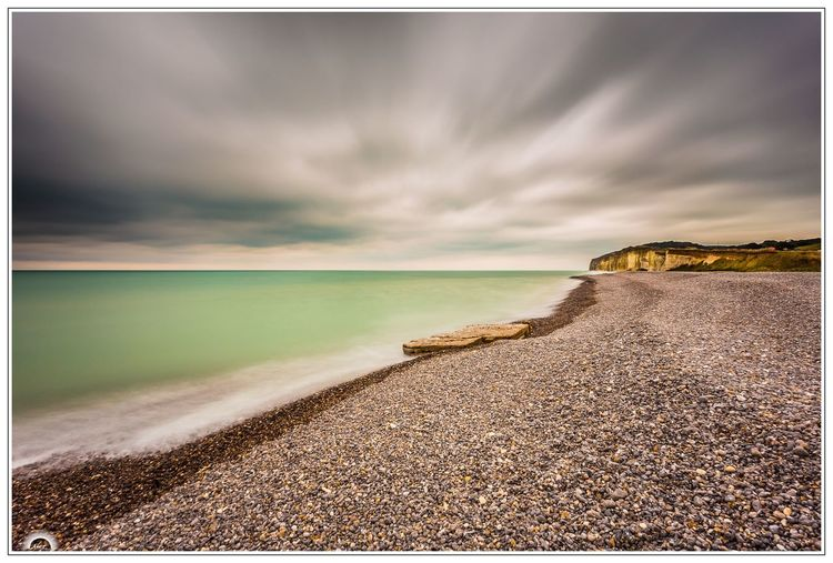 France Normandie Beach Beauty In Nature Larga Exposicion Largaexposicion Long Exposure Nature No People Sea Sky Tranquility Water
