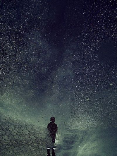 Star - Space Night Rainy Days Reflection One Person Milky Way The Portraitist - 2017 EyeEm Awards Exceptional Photographs BYOPaper! First Eyeem Photo EyeEmNewHere The Great Outdoors - 2017 EyeEm Awards Star Field Space Real People People Outdoors Scenics Nature Beauty In Nature Constellation Live For The Story