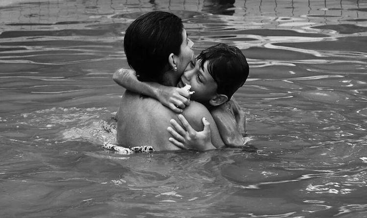 EyeEm Bnw Bnw_life Mother&son Love & Affection