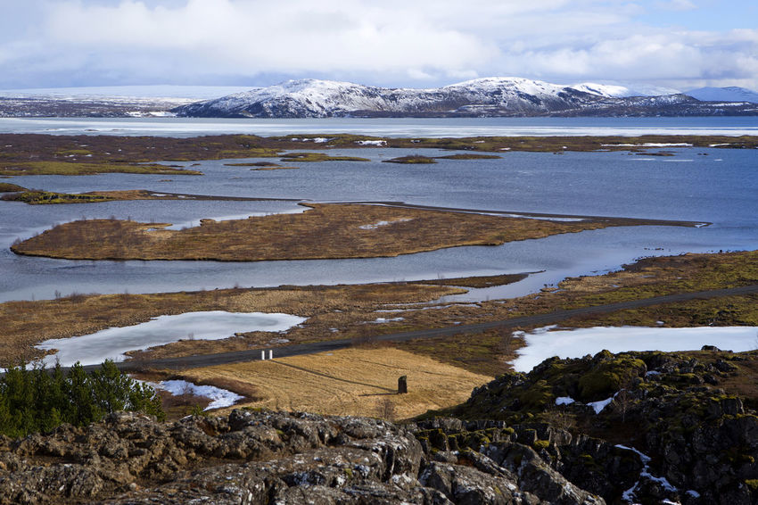 Beauty In Nature Cold Temperature Day Grass Iceland Iceland Memories Iceland Trip Iceland_collection Lake Landscape Nature No People Outdoors Pingvellir Scenics Sky Snow Thingvellir National Park Tranquil Scene Tranquility Water Winter