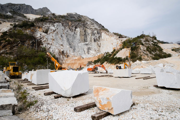 View of marble quarry