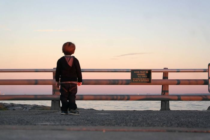 My Best Photo 2015 Sunset Enjoying The Sunset Boy Children Kids Beach Enjoying The View