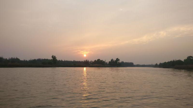 Sunset Sunset Reflection Lake Tranquility Water Landscape Sun
