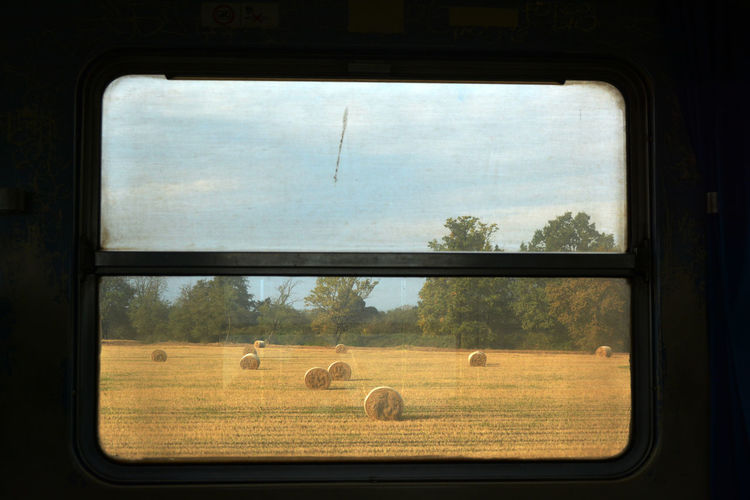 Landscape seen through train window