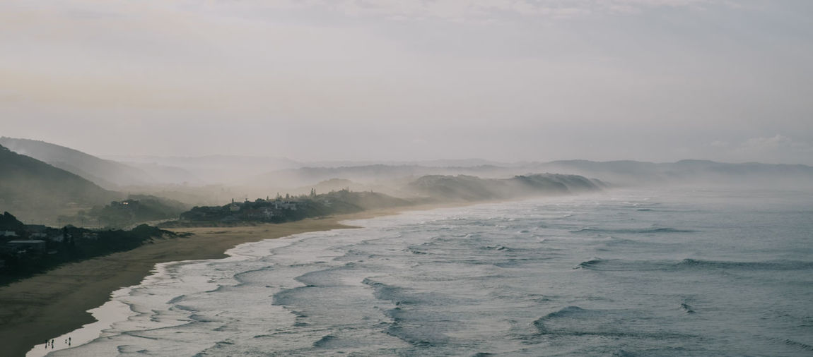 Misty morning Beauty In Nature Day Landscape Majestic Melancholic Landscapes Moody Nature No People Non-urban Scene Outdoors Overcast Remote Scenics Tranquil Scene Tranquility Travel Destinations Water Waves Weather