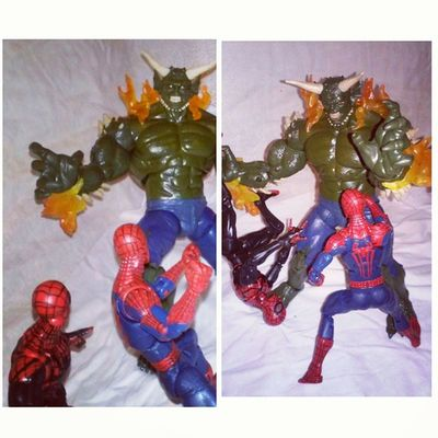 Taking the battle to him! Marvelvillans Marvel Greengoblinparts Marvellengends Amazingspiderman Superiorspiderman Figures Figurecollecting Geekingout