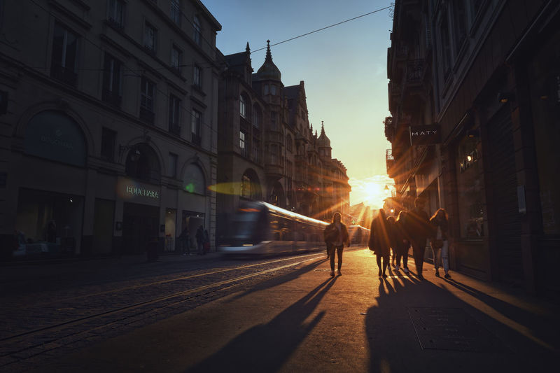 End of the Afternoon Afternoon City City Life City Street People Rail Shadow Street Sun Sunset Sunset Silhouettes Tram #urbanana: The Urban Playground