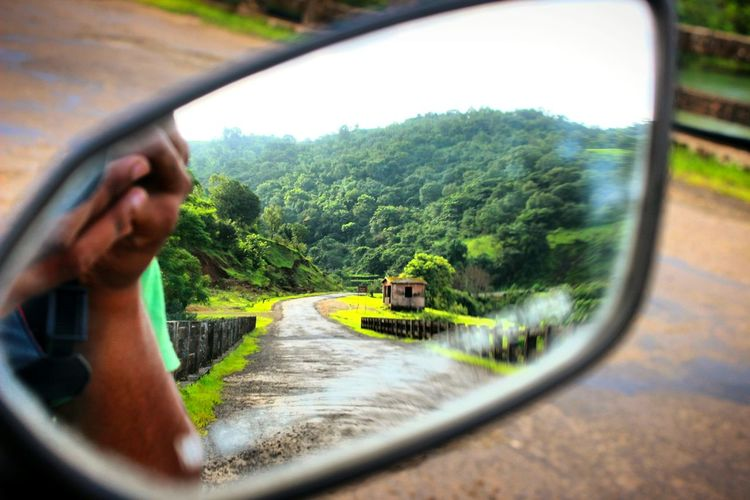 Places around Pune.. Amazing experience of riding bike on this scenic road! Transportation Mode Of Transport One Person Selective Focus Tree Car Land Vehicle Journey Day Adult One Man Only People Outdoors Adults Only Nature Only Men Sky