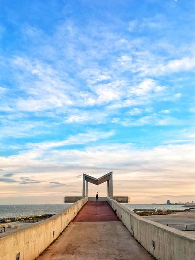 M Barcelona Cloud - Sky Sky Beach Outdoors Travel Destinations The Way Forward Stories From The City Sea Tranquil Scene Day Horizon Over Water Architecture Built Structure