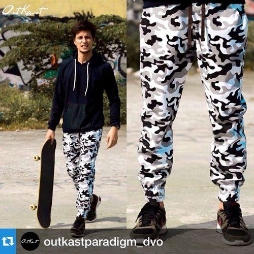 Repost @outkastparadigm_dvo with @repostapp.・・・Now Available! Some fresh 'Arctic' Black & White Camo Men's Joggers Php1600 ONLY Viber/SMS NOW! OutkastOriginals OutkastParadigm OutkastDVO