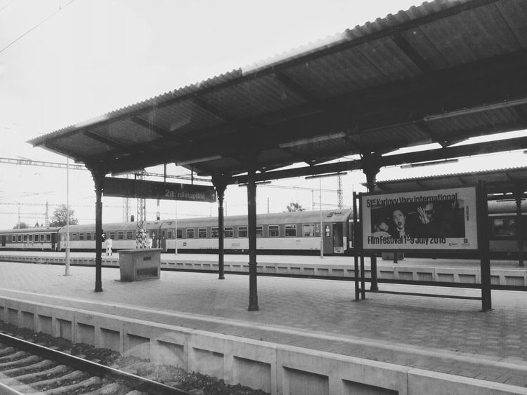 Train Station Travelling Black & White World Darkness And Light Ceske Budejovice
