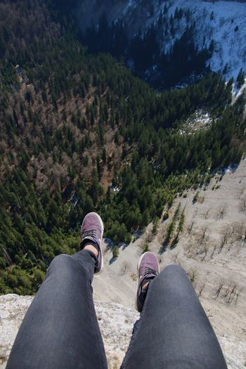What a view Personal Perspective Low Section Shoe Human Leg One Person Human Body Part Real People Standing Day Lifestyles Outdoors Nature People Adult Out Of The Box Nike Adults Only Creux Du Van Switzerland Forest Sneakers