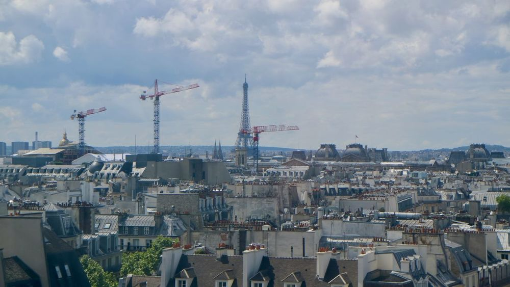 Picture from the roof of Centre Pompidou, Paris Architecture Beautiful Built Structure City City In Motion City Life Cityscape Day Eiffel Tower Houses Paris Sky
